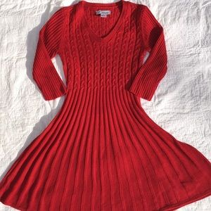 J Howard red sweater dress-size small
